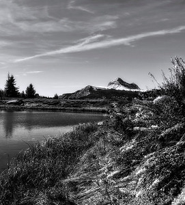 At Andrews Lake near Silverton, Colorado, Engineer Mountain looms in the distance.