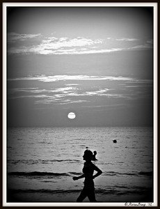 Woman With Good Posture; on the Beach, Negril, Jamaica