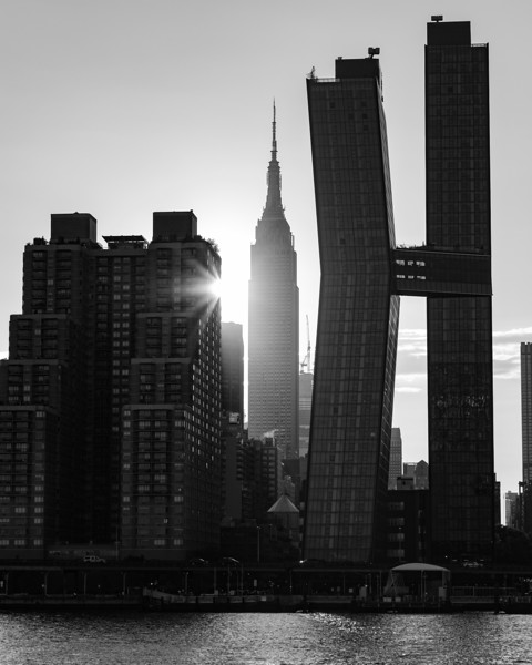 The Empire State Building and the American Copper Buildings, New York City