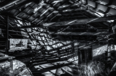 Graphic shadows in a dilapidated shed near Forest Lakes, Colorado
