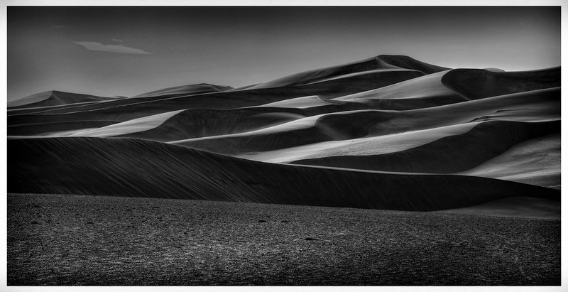 Black and White Version of Colorado Sand Dunes<br /> Processed in NIK SilverEfex