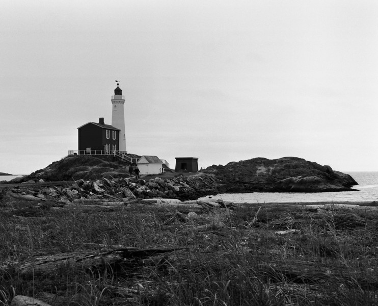 Fisgard Lighthouse at Fort Rodd Hill, Victoria BC. <br /> <br /> Pentax 645 with Fuji Acros stand developed in Rodinol 1+100 for 45 minutes at 20C.