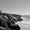 Wedge in Newport Beach California 15 black and white