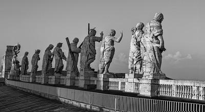 The Saints overlook Rome BW