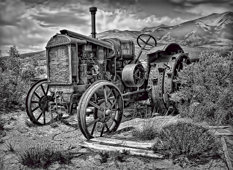 Old Alamosa Colorado Tractor