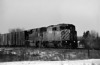 CP 9024 and CEFX 109 heading east through Barlcay Ontario.<br /> <br /> Ilford HP5+ developed with Kodak HC-110 (dilution 'B') at 20C for 5 minutes. Image taken with a Minolta Maxxum 7 with a Sigma 28-300mm lens.