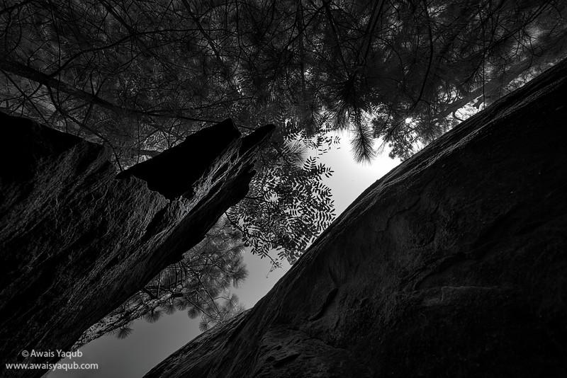 Meditation under the rocks of Noorabad