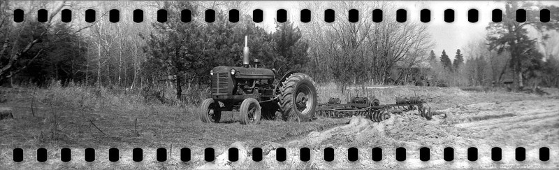 """I loaded <a href=""""http://www.djkennedy.com/Photography/Camera-Collection/brownie-six-16/444657744_nAfVm-L.jpg"""">this</a> Kodak Brownie six-16 (that takes the no longer available 616 film) with 35mm film. The purpose was to get the extra long negative with the sprocket holes. The result was a negative that is roughly 3 times the length of a normal 35mm negative.  Kodak Brownie six-16 (1946 - 1951) loaded with Kodak Double-X b&w movie film developed in HC-110 dilution B for 7 minutes at 18C."""