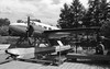 Aircraft static display in Ignace, Ontario - with Brendan Schmidt.<br /> <br /> Leica R4, Kodak 125PX developed in HC110 dil 'B'.
