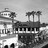 Beautiful Santa Ana Train Station in Santa Ana California black and white