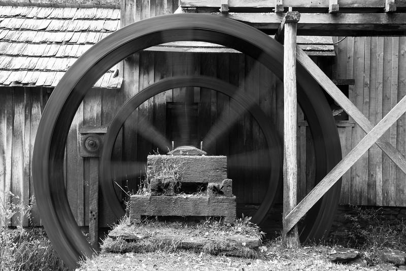 Mabry Mill Wheel in Motion. Blue Ridge Parkway, VA