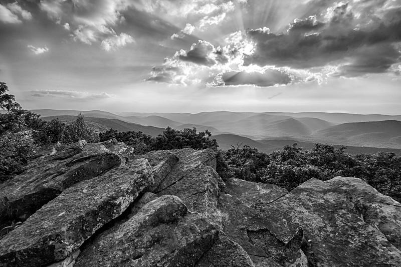 Wind Rock on the Appalachian trail, VA