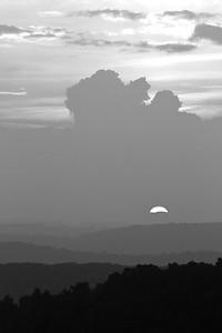 Sunset at the saddle overlook. Blue Ridge Parkway, VA