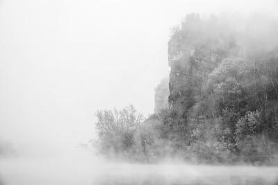 Castle Rock in the fog
