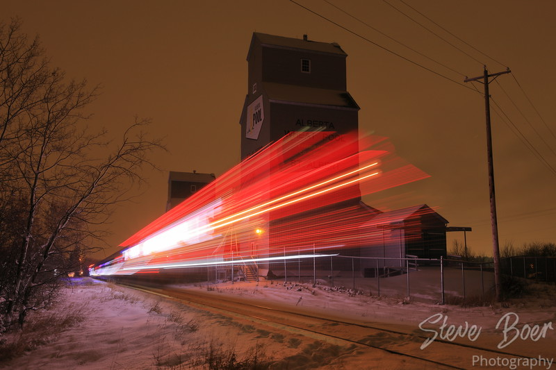CN Christmas Express long exposure