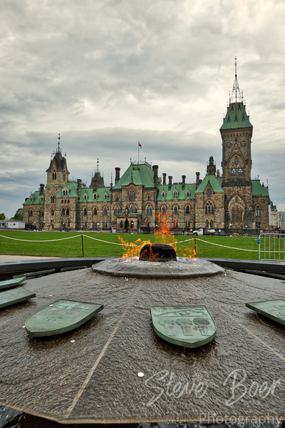 Centennial Flame and East Block