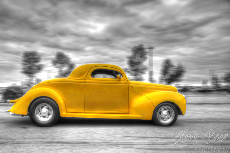 Classic Car with HDR and color isolation