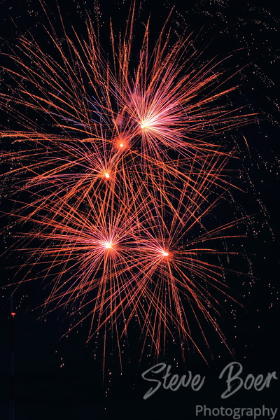 Five Red Bursts