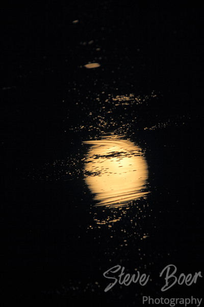 Supermoon reflection