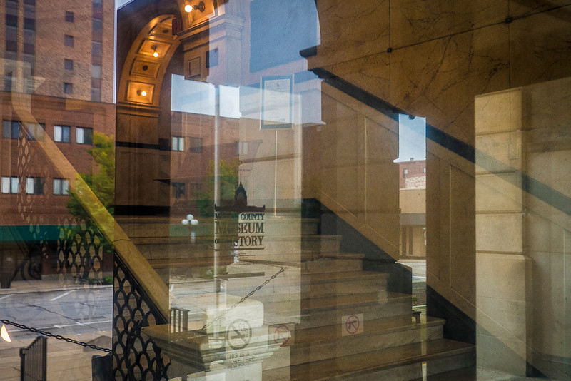BLM courthouse lobby reflection