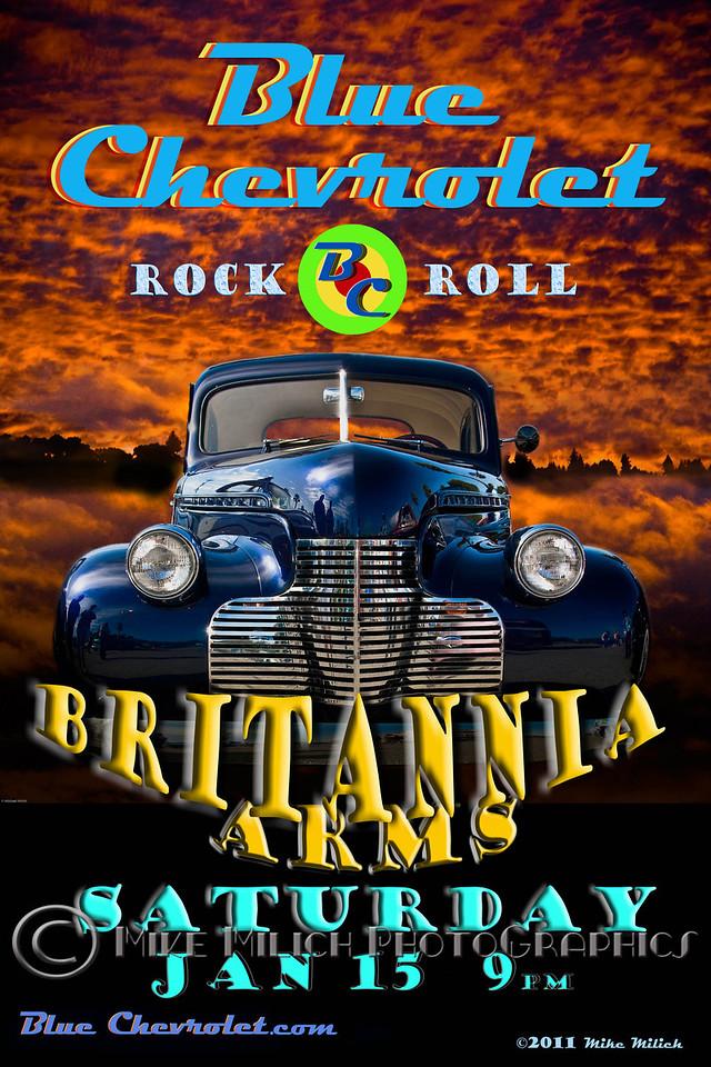 Blue Chevrolet at the Trout Farm Inn, 1-15-2011