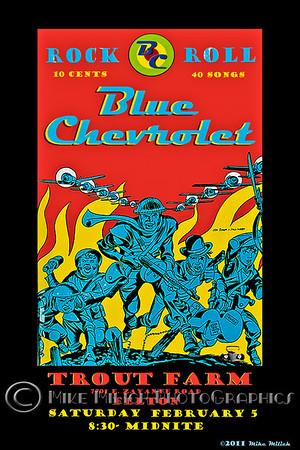 Blue Chevrolet at the Trout Farm Inn, 2-5-2011