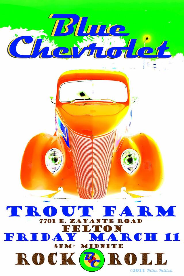 Blue Chevrolet at the Trout Farm Inn, 3-11-2011