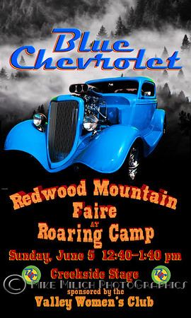 Blue Chevrolet at the Redwood Mountain Faire, 6-5-2011