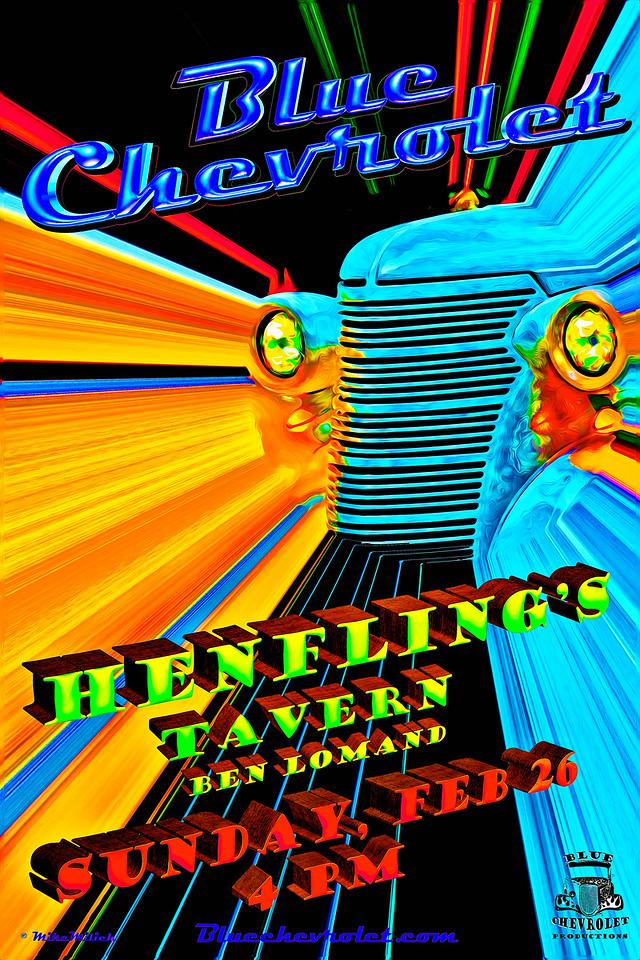 Blue Chevrolet at Henfling's Tavern,  2-26-2012