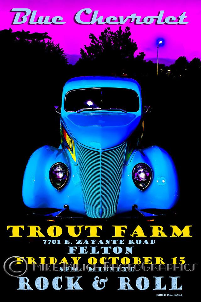 Blue Chevrolet at the Trout Farm Inn, 10-15-2010