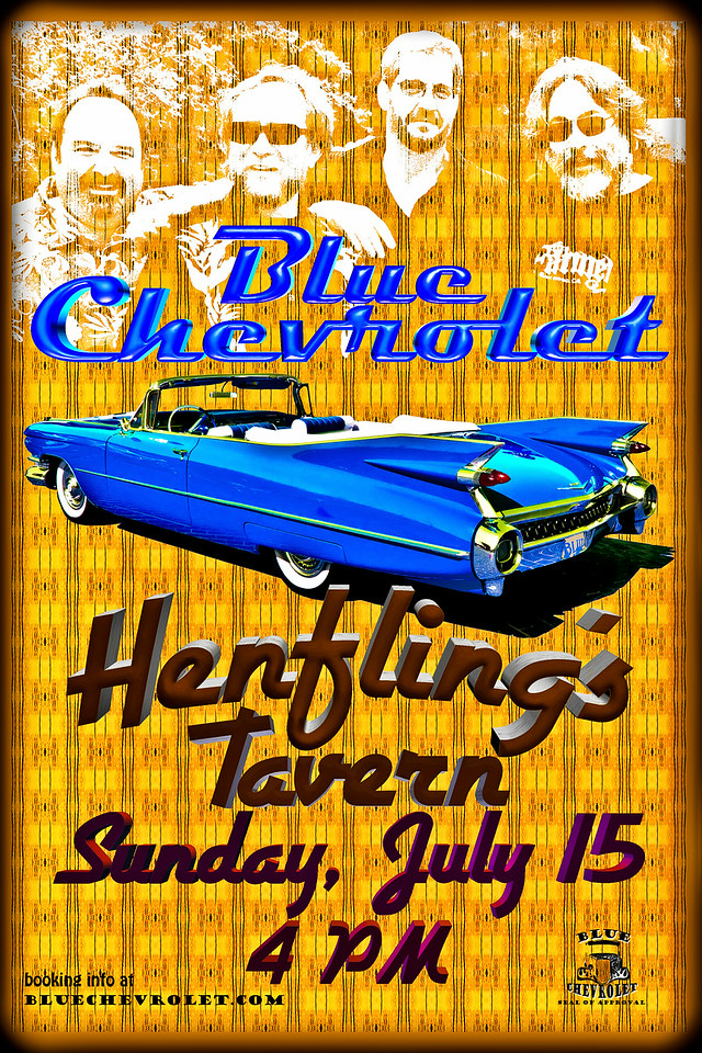 Blue Chevrolet at Henfling's Tavern, 7-15-2012