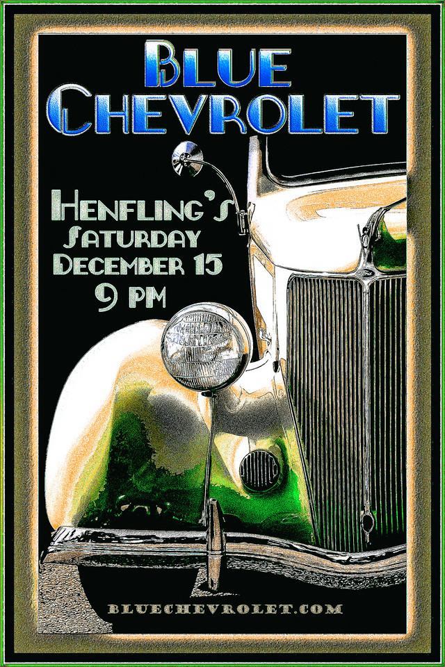 Blue Chevrolet at Henfling's Tavern, 12-15-2012
