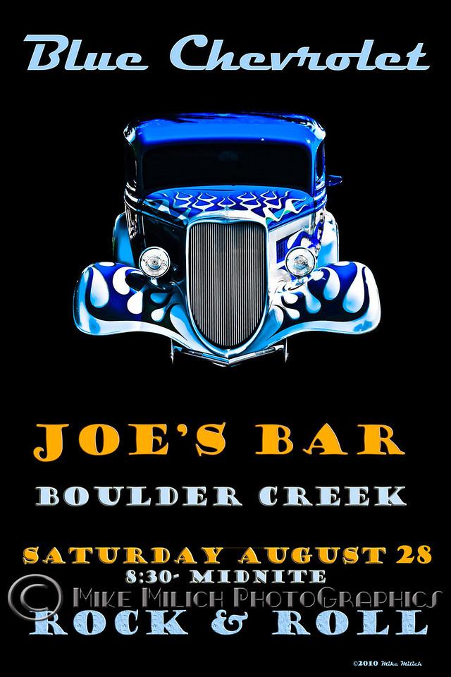 Blue Chevrolet at Joe's Bar, 8-28-2010