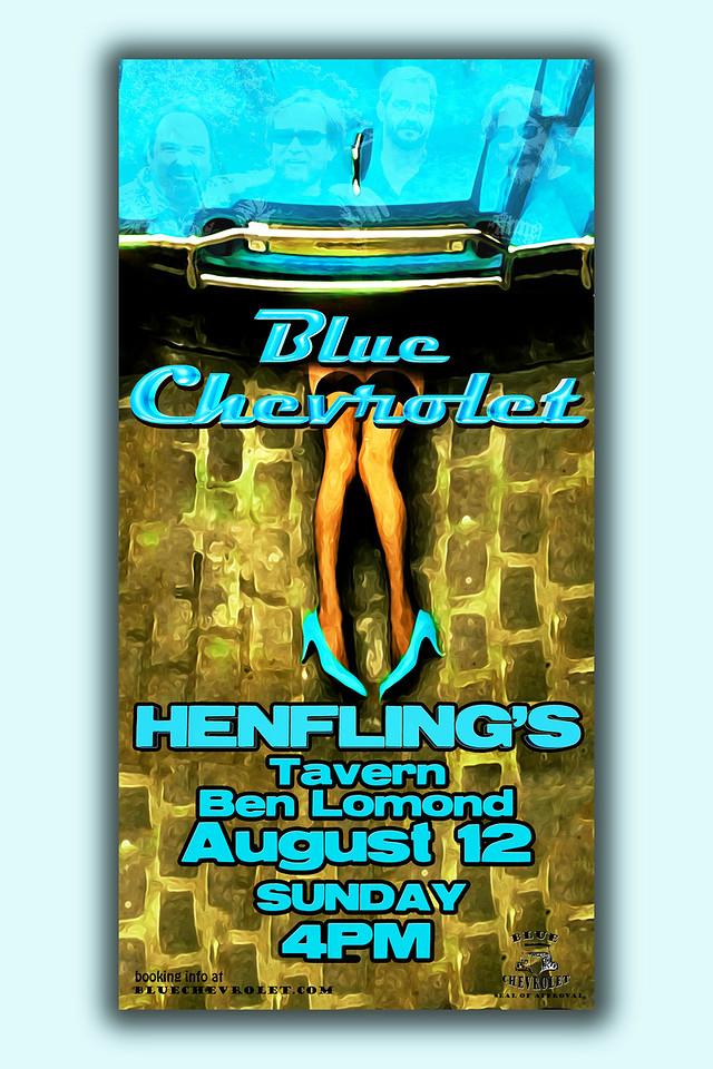 Blue Chevrolet at Henfling's Tavern, 8-12-2012