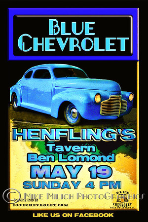 Blue Chevrolet at Henfling's Tavern, 5-19-2013