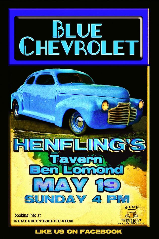 Blue Chevrolet at Henfling's Tavern, 5-19-2013