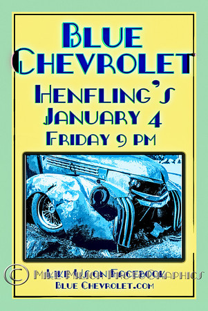Blue Chevrolet at Henfling's Tavern, 1-4-2013