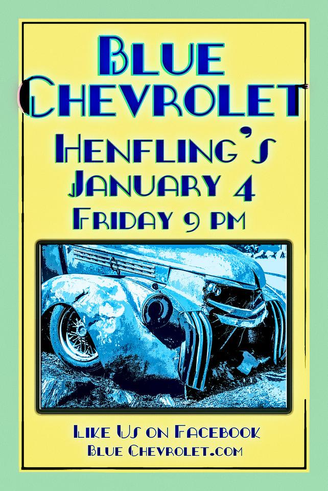 Blue Chevrolet at Henfling's Tavern, 1-4-2013