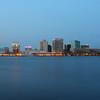 Norfolk Norfolk, Skyline, Cityline, Blue Hour