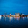 Norfolk, Skyline, Cityline, Blue Hour