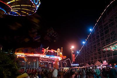 Sea Swings Rock & Roll Giant Dipper night scene-3-3