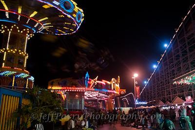 Sea Swings Rock & Roll Giant Dipper night scene-6-6