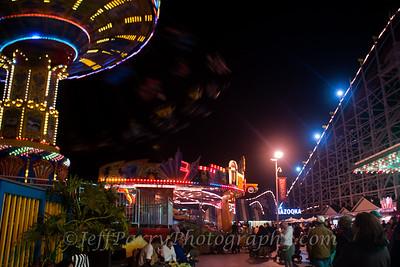 Sea Swings Rock & Roll Giant Dipper night scene-11-11