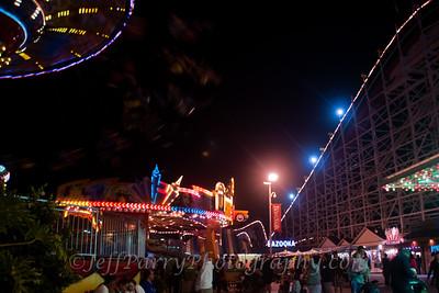 Sea Swings Rock & Roll Giant Dipper night scene-1