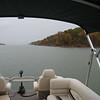 Lake Texoma on a rainy fall day