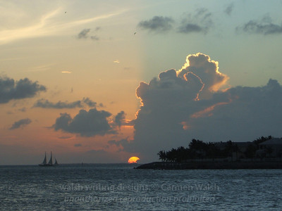 Key West sunset clouds