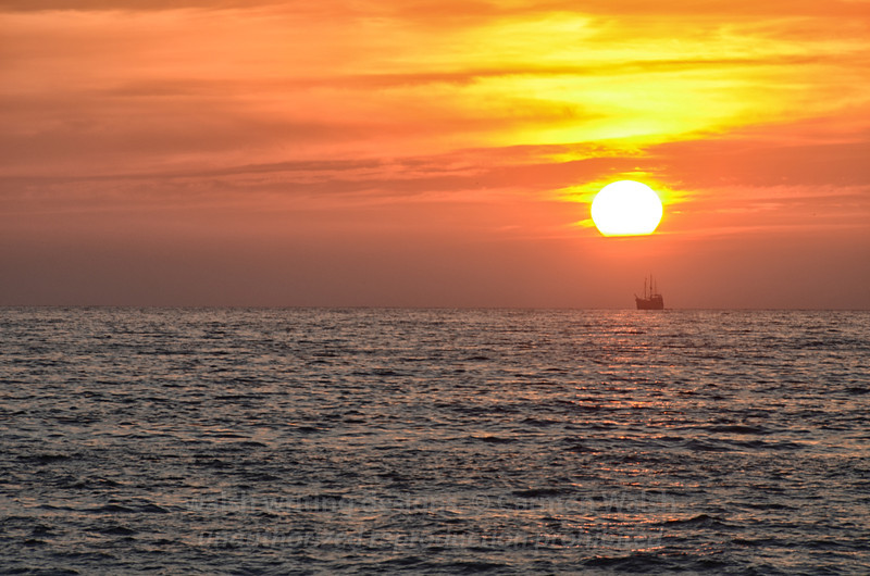 Sailing in the Red Sunset