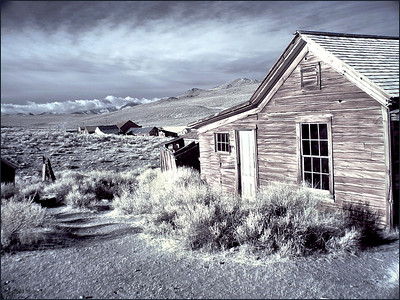 Bodie infrared, storm east in the Sierras