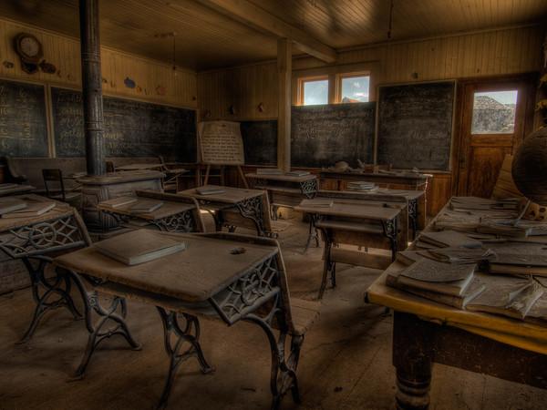 Bodie State Park - Schoolhouse - Student Desks