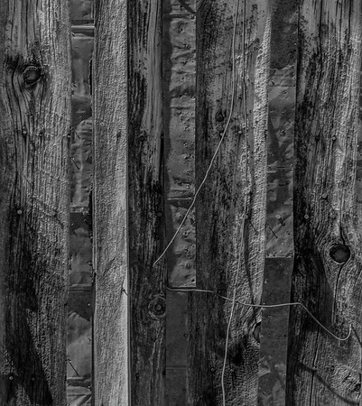 Abstract - Tin Siding on a Building in Bodie converted to B&W